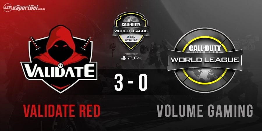 CWL eSports Validate Red win