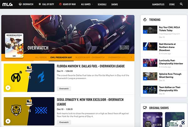Watch Overwatch esports at MLG