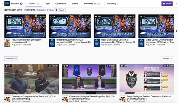 Overwatch League esports live streaming on Twitch