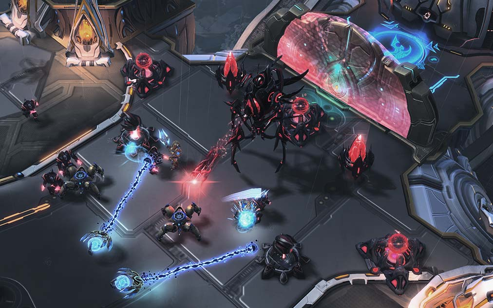 StarCraft II esports gameplay example