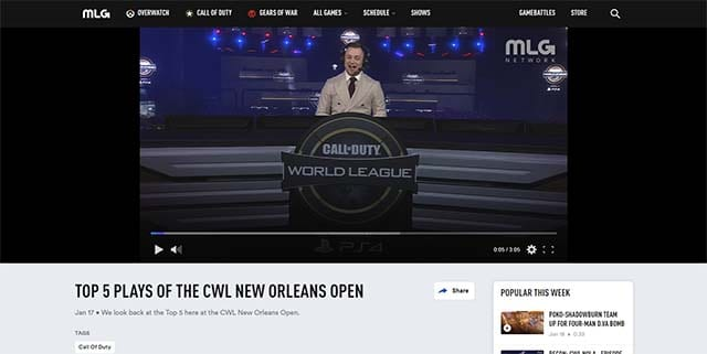 MLG.tv Call of Duty esports how to watch