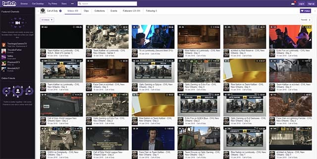 CoD esports where to watch Twitch