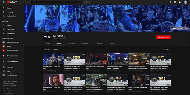 Where to watch Call of Duty esports on YouTube
