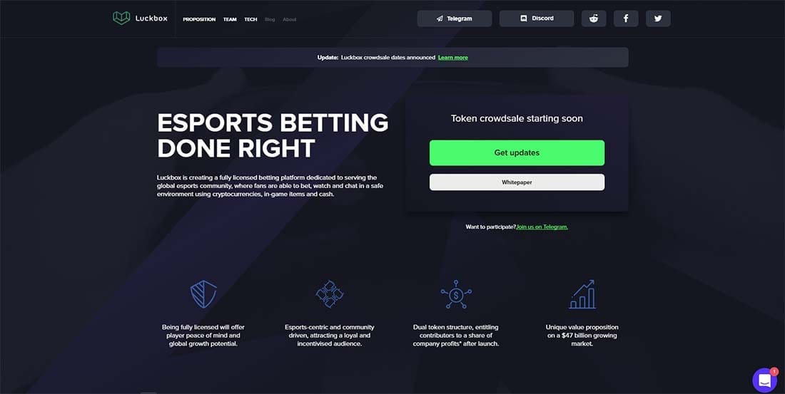 Luckbox esports betting site