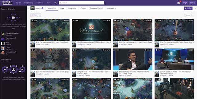 Valve Dota 2 esports Twitch live streams
