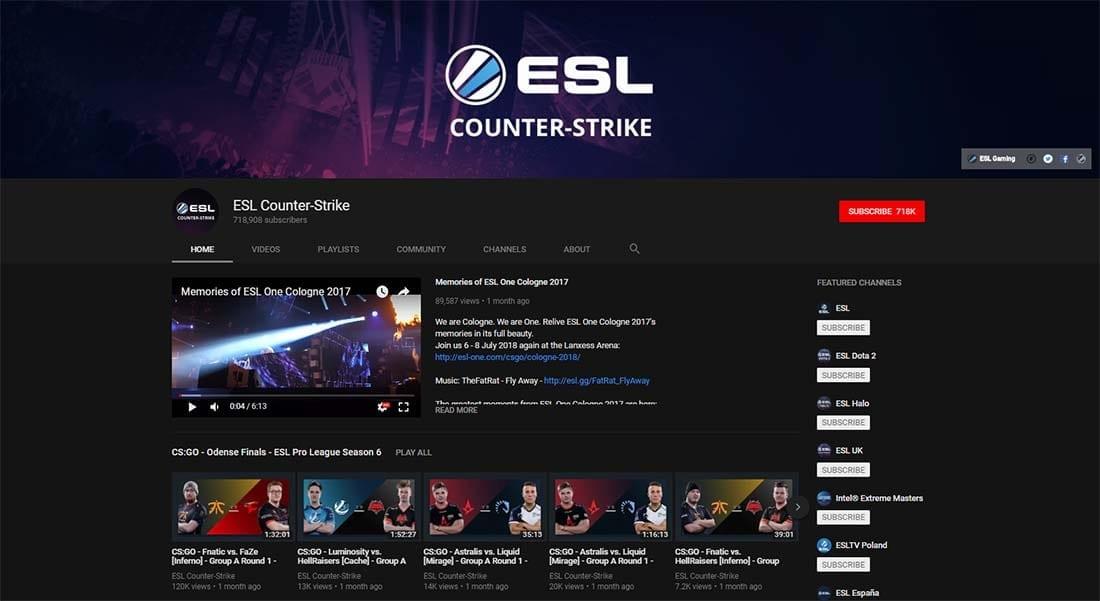 Twitch esports CS:GO