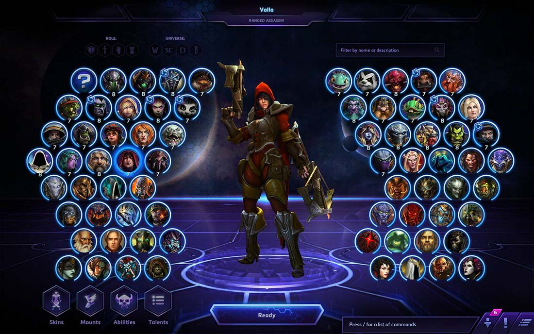 Heroes of the Storm heroes selection
