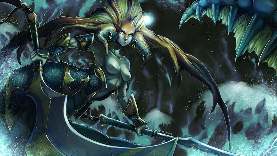 Dota 2 Heroes | Naga Siren | Character Gameplay Strategy