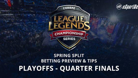 League of Legends quarter finals betting