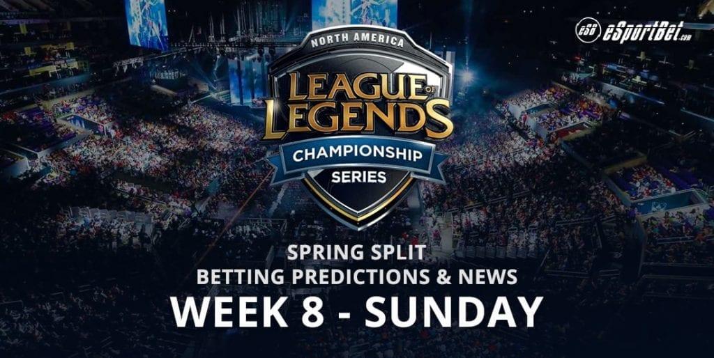 League of Legends Wk 8 betting odds