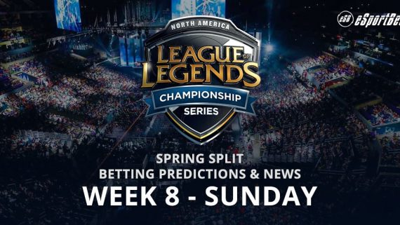 League of Legends Wk 8 betting odds