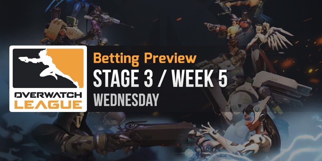 Overwatch League Stage 3 Week 5 betting Wednesday